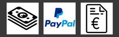 bar - PayPal - auf Rechnung